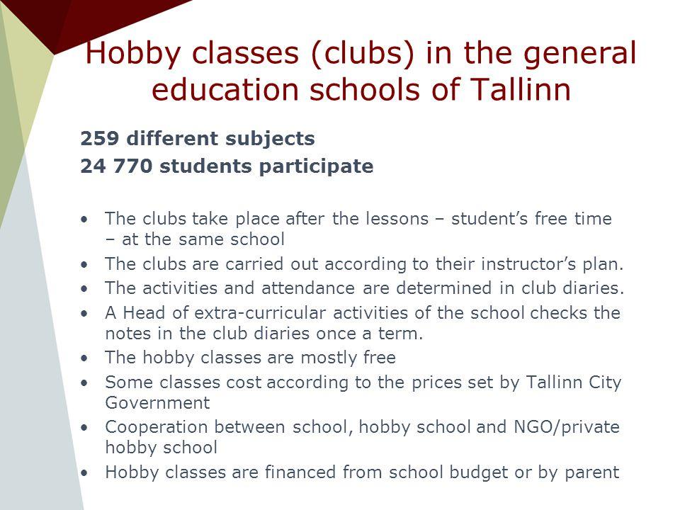 Hobby education system in Tallinn Tanel Keres ppt download