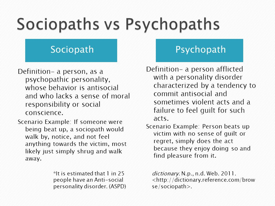 How to beat a psychopath