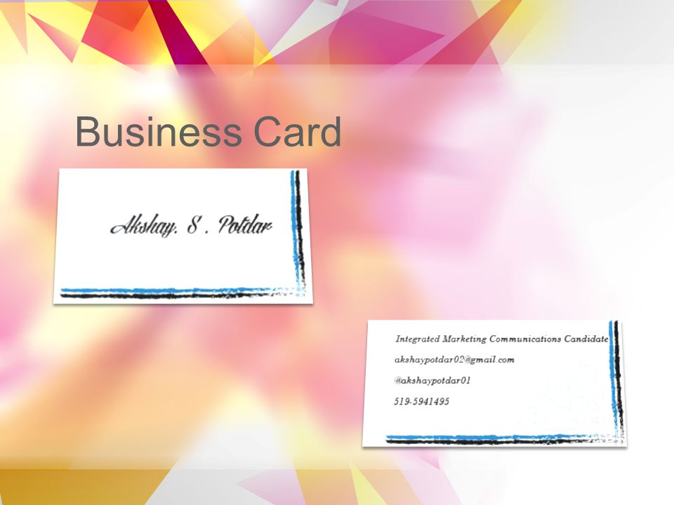 Design portfolio by akshay potdar table of contents business card 3 business card business card 4 colour theory layout reheart Image collections
