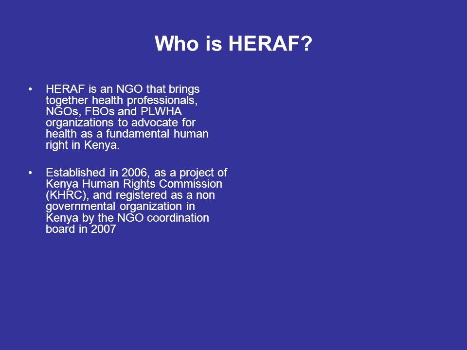 Who is HERAF.