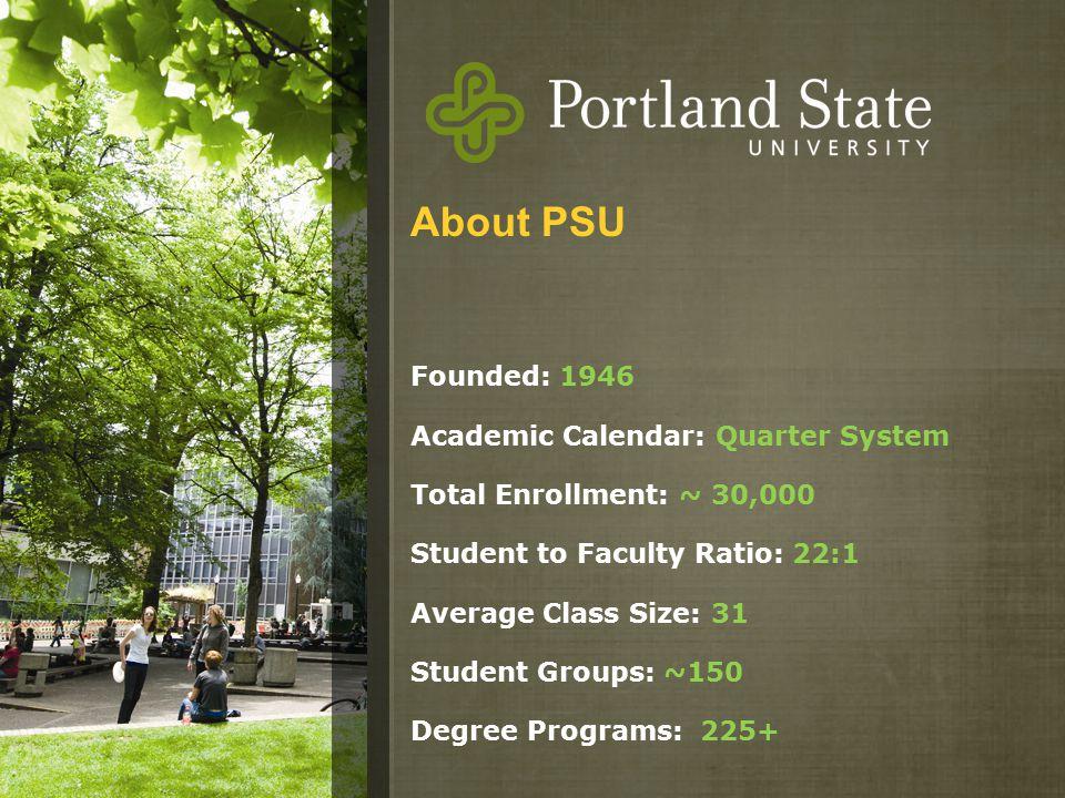 Portland State University Calendar.Psu Vietnam Scholars Program Dedicated Scholarship Fund For