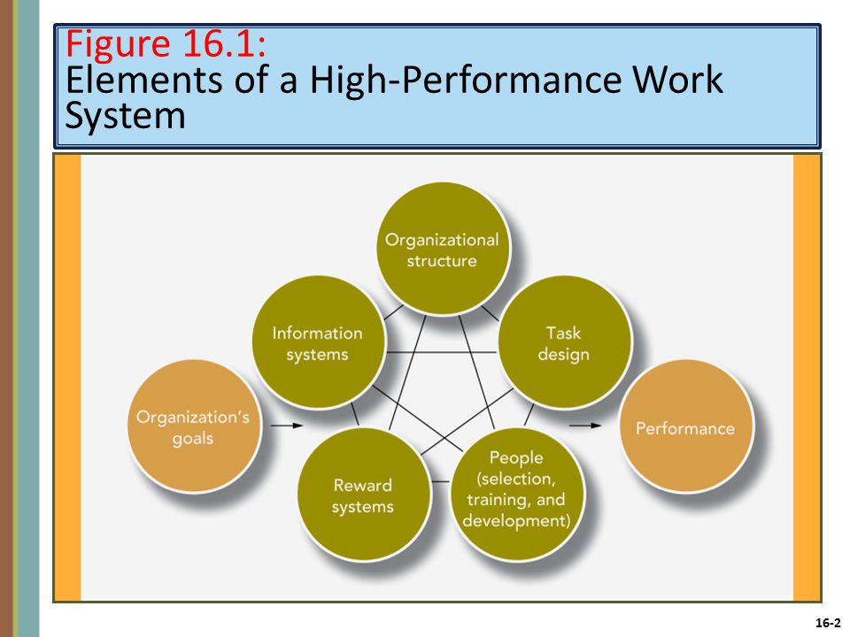16-2 Figure 16.1: Elements of a High-Performance Work System