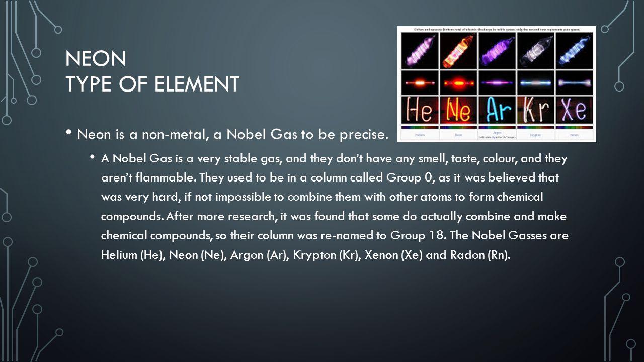 Neon By Tom Anderson 8c Neon Symbol The Symbol For Neon Is Ne