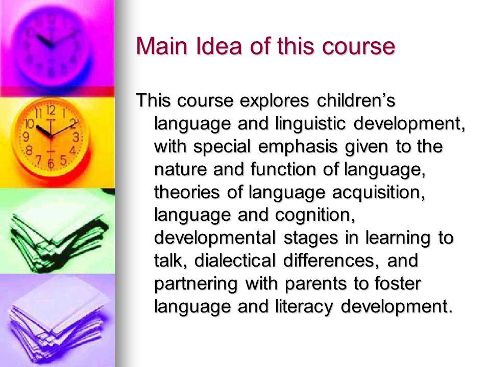 how does cognition foster language development