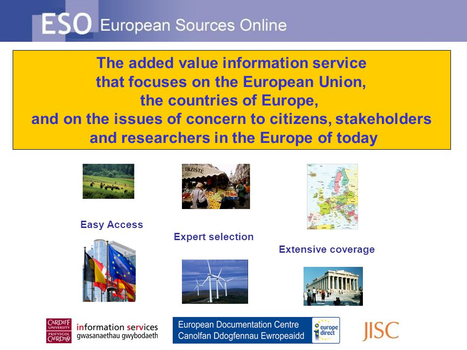 The added value information service that focuses on the European