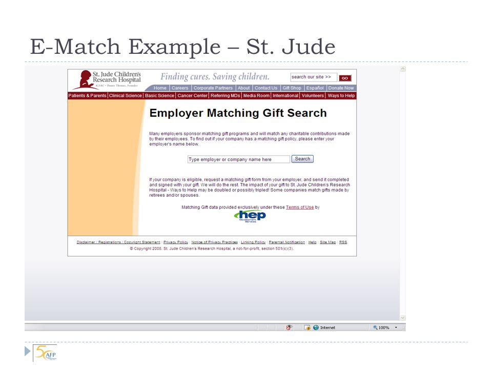 Maximizing Matching Gifts The Maryland Affiliate of Susan G