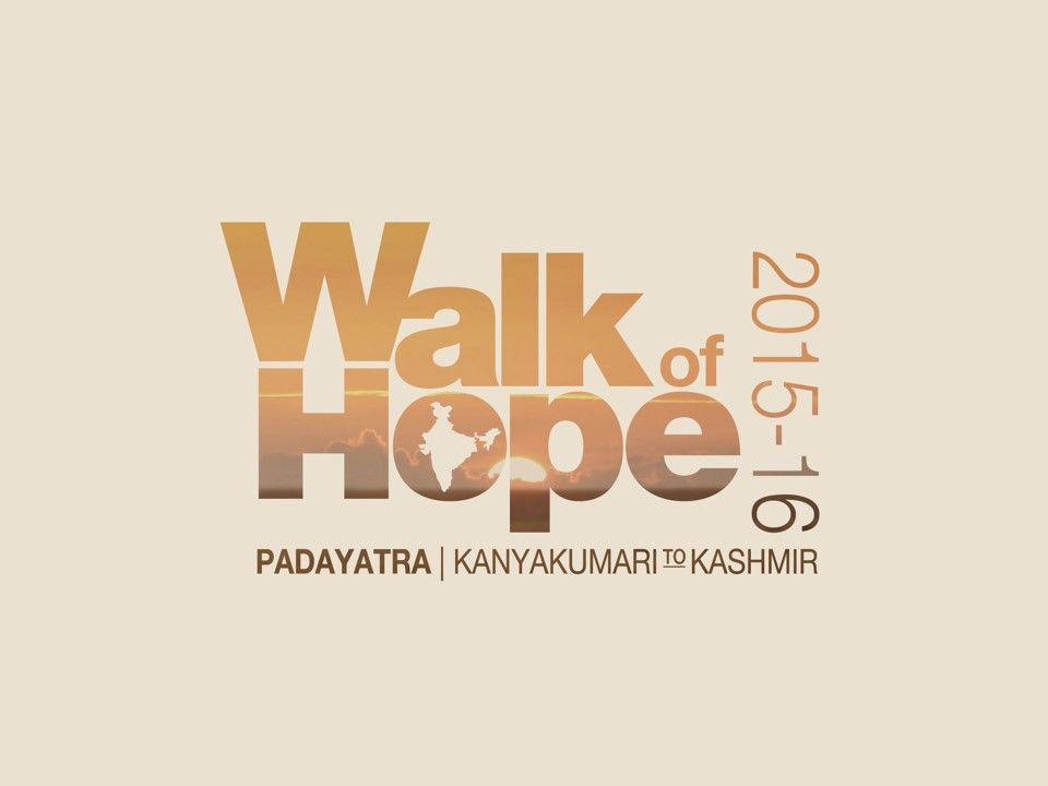 Walk of Hope is a padayatra for peace and harmony by the
