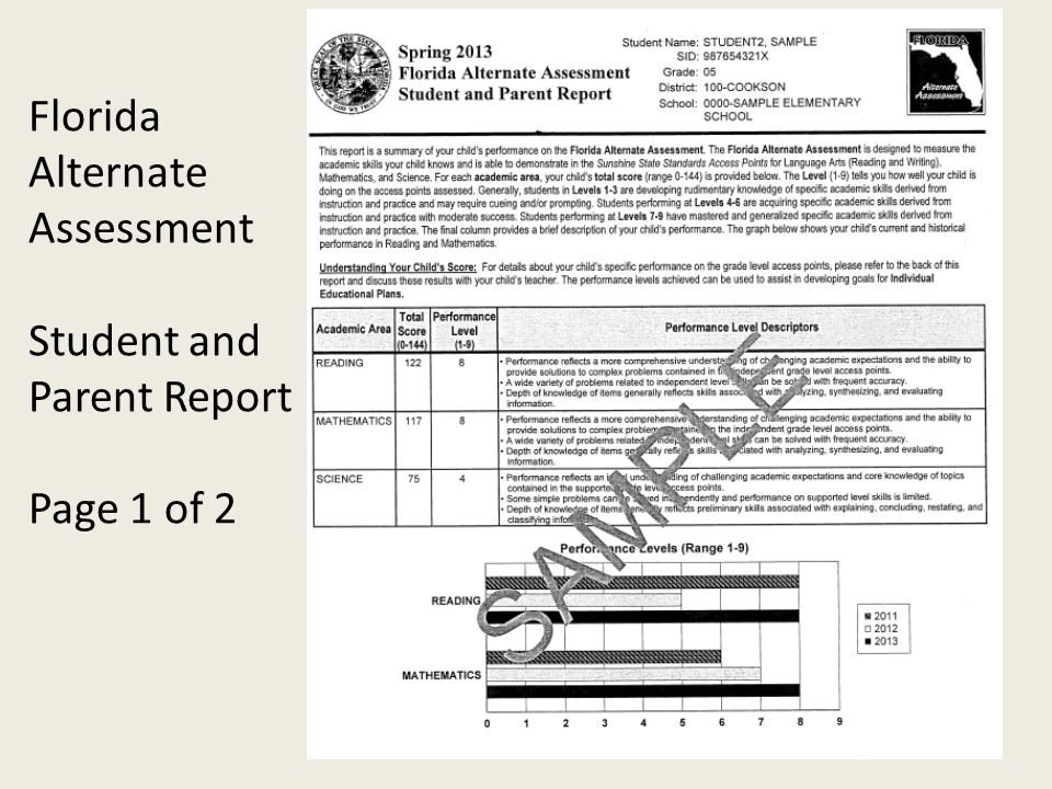 What assessment results are provided to teachers and parents.
