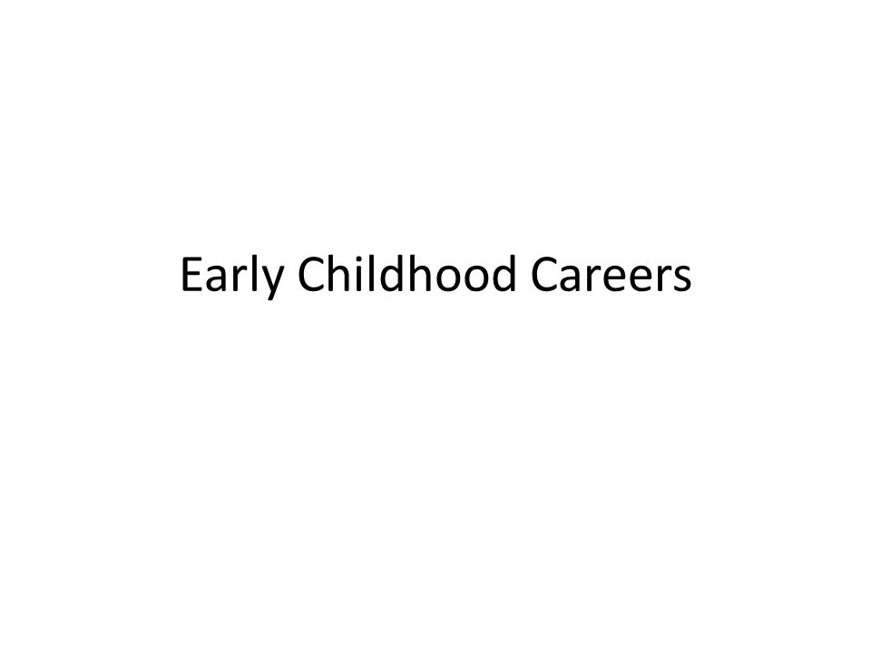 Early Childhood Careers Jobs Associates Degree2 Year Collegetech