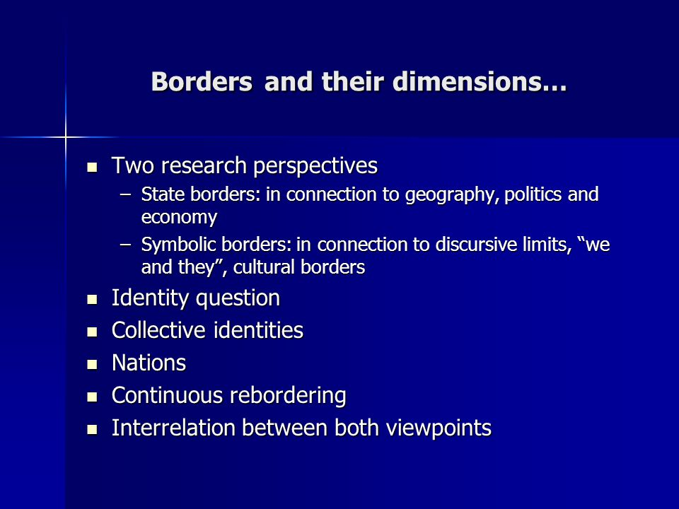 Real Borders And Virtual Borders An Approach To Spanish Scene