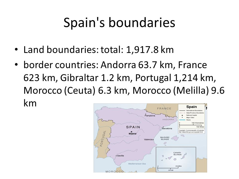 Map Of Spain France And Andorra.Spain Location Map And Population Of Spain Spain S Boundaries Land