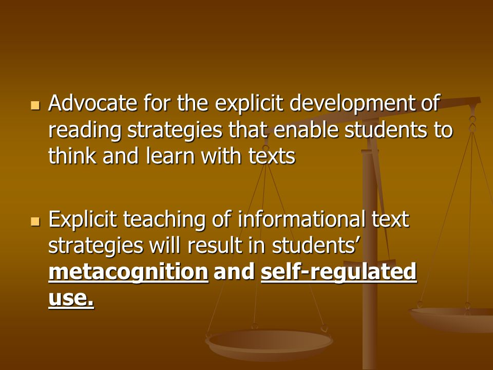 Teaching Students To Read Informational Text Reference Reference