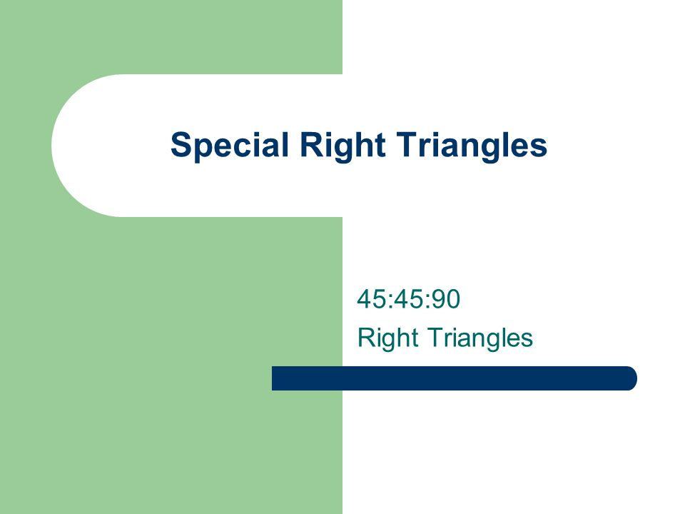 special right triangles 45-45-90 worksheet