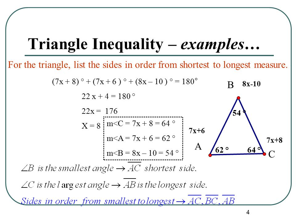 Unit 2 Triangles Triangle Inequalities and Isosceles Triangles ...