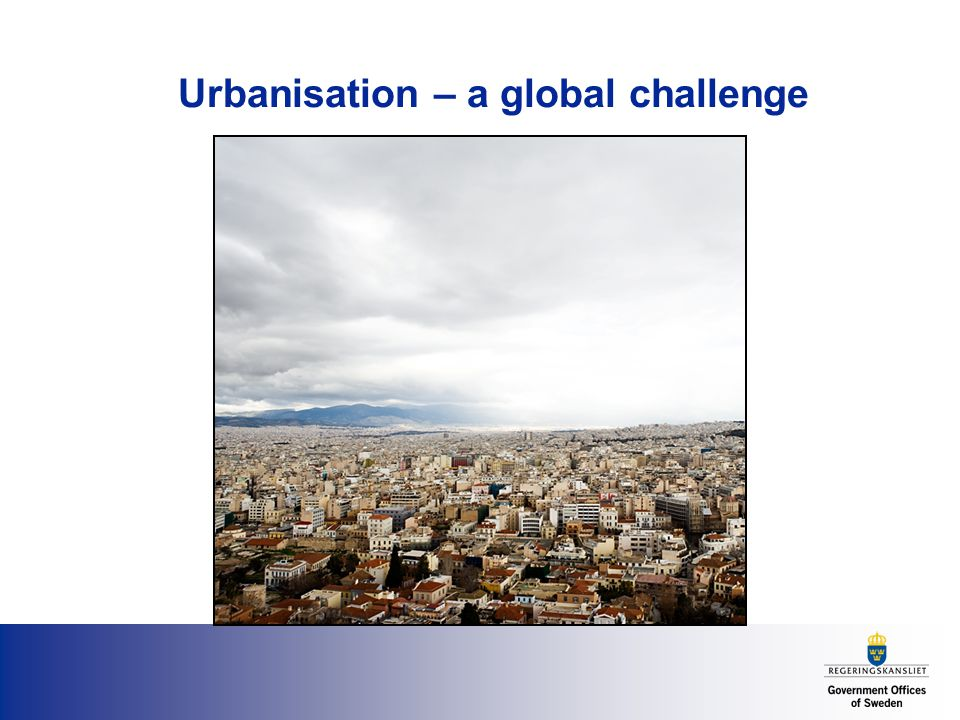 Urbanisation – a global challenge