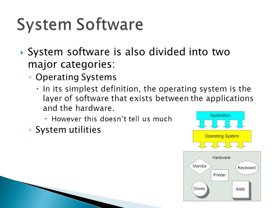 two major categories of software