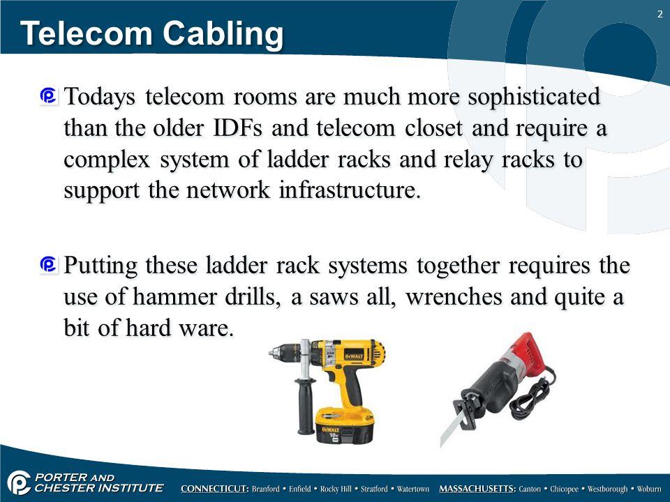 1 Telecom Cabling Ladder racks systems and relay racks