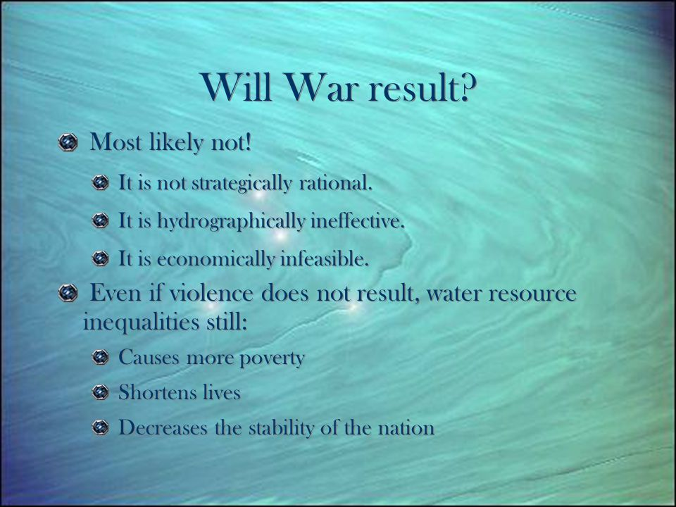 Will War result. Most likely not. It is not strategically rational.