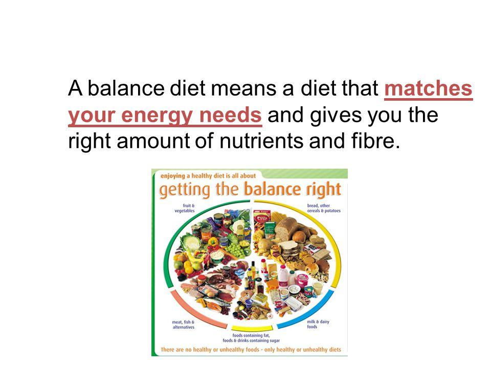 Gcse Year 10 A Balanced Diet A Balanced Diet Aims To Understand