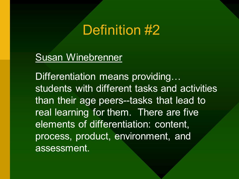 Differentiated Curriculum What Does Differentiation Mean To Teachers