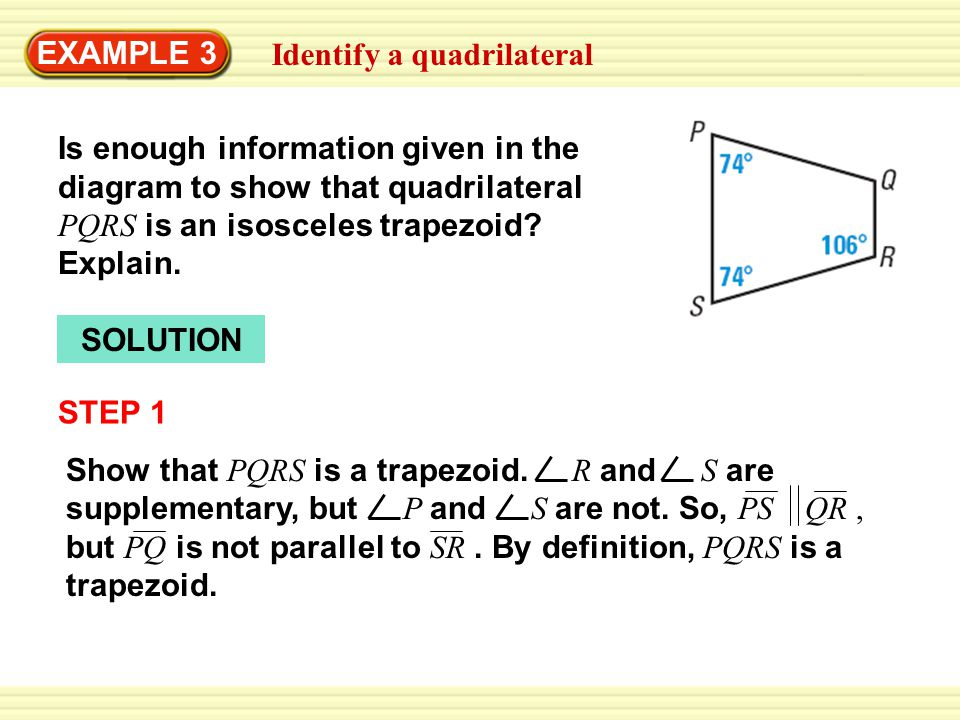 Example 1 identify quadrilaterals quadrilateral abcd has at least 4 example ccuart Image collections