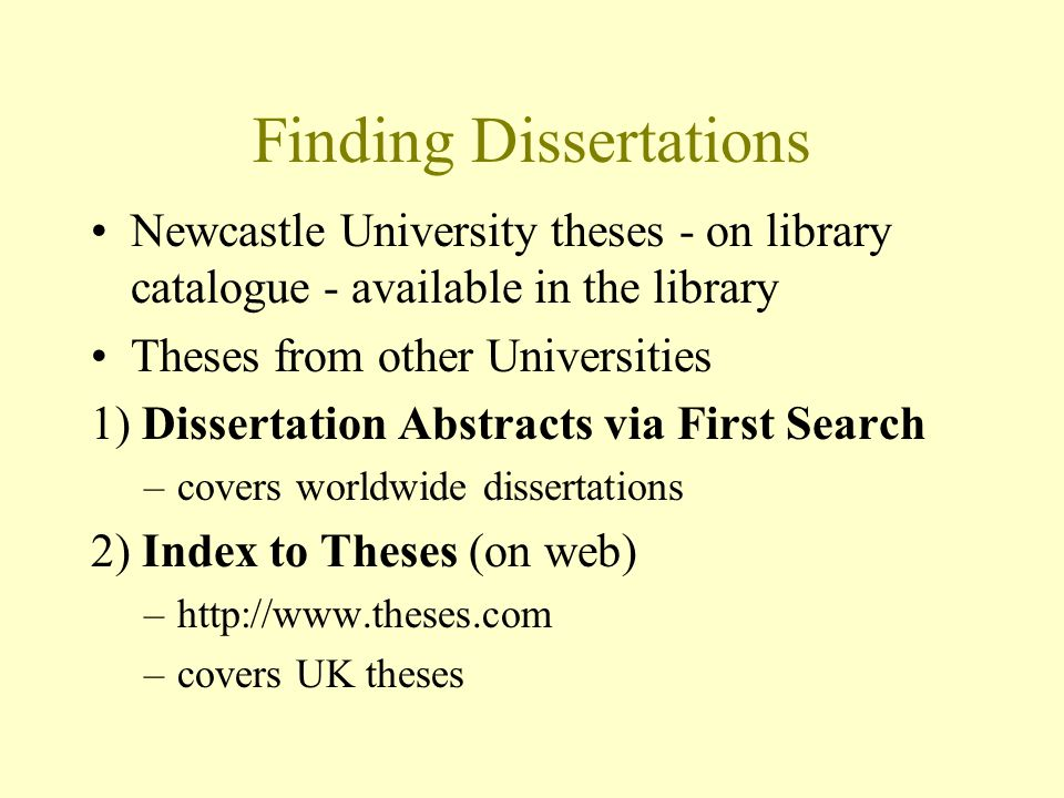 how do you find a dissertation Choosing a dissertation topic: an excellent rule of thumb is quite simply what you find most interesting if you have the opportunity to read through a list of dissertation topics, then start by shortlisting a selection that stand out.