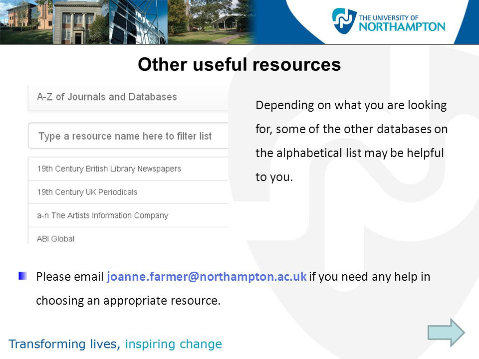 Other useful resources Please  if you need any help in choosing an appropriate resource.