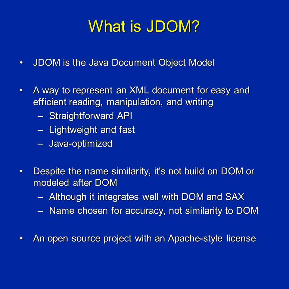 Java + XML = JDOM by Jason Hunter and Brett McLaughlin co