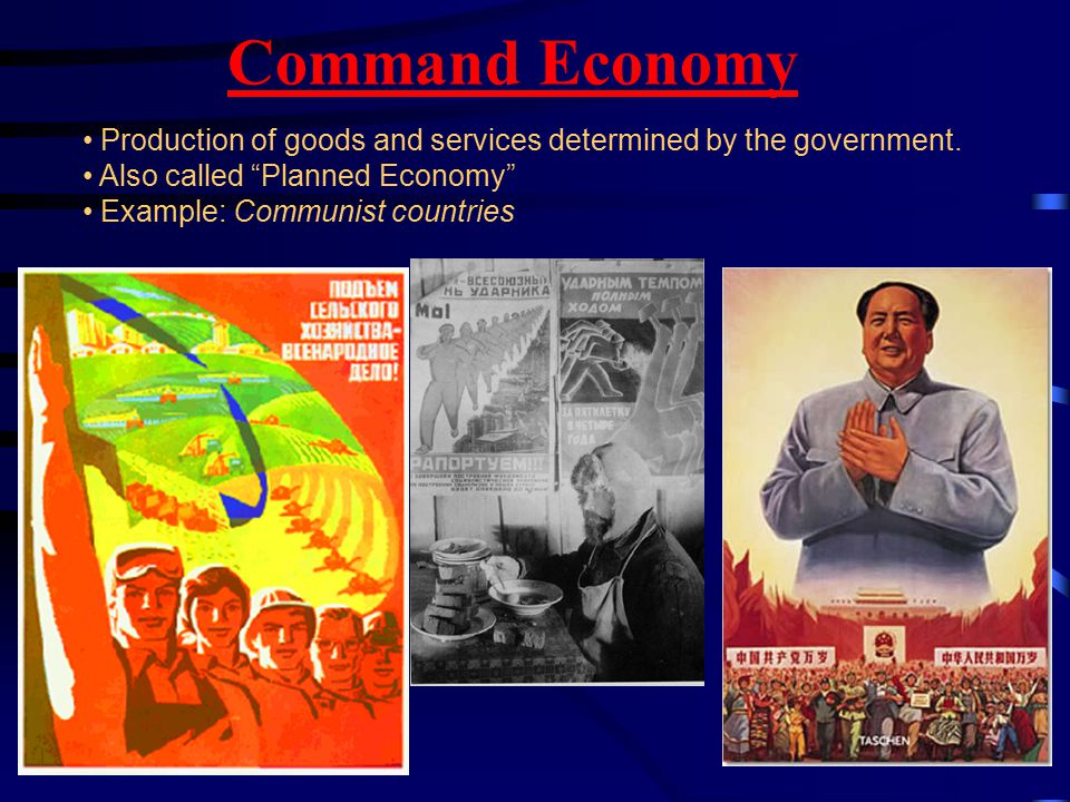 Market Economy Goods and services are determined through Supply and Demand Also called Free Market Economy or Capitalism .
