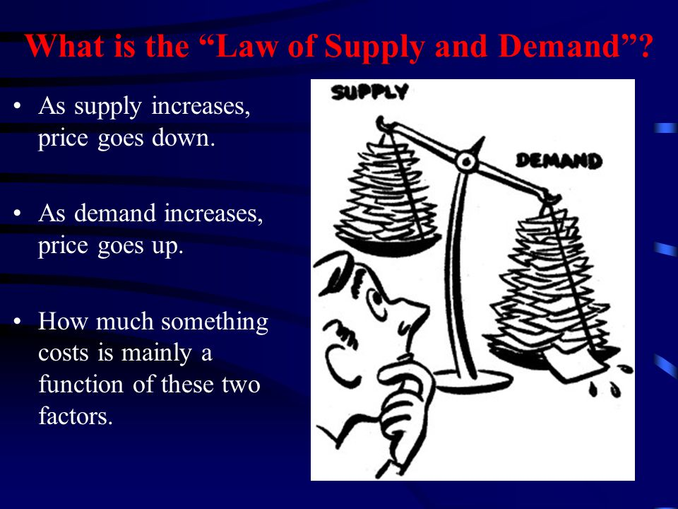 What is Supply and Demand.