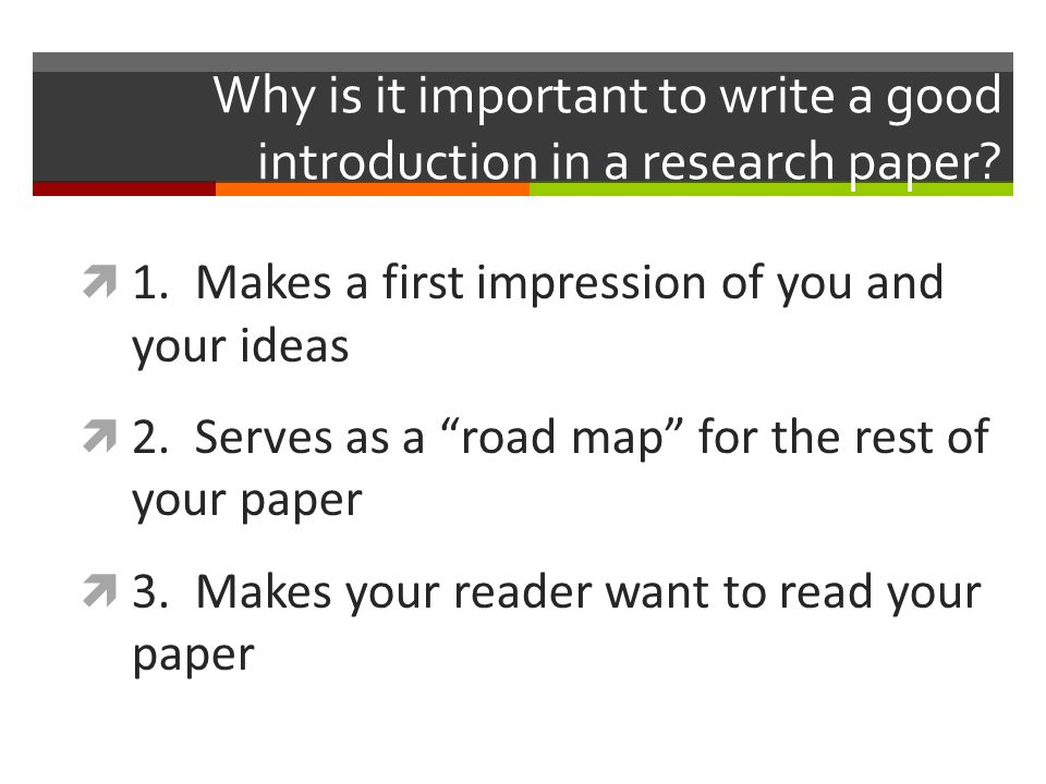 how to write a paper introduction