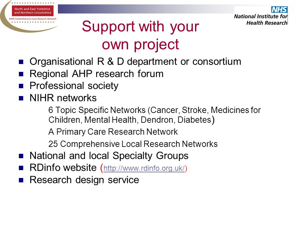 AHP research: excellent opportunities in challenging times Dr Angela ...