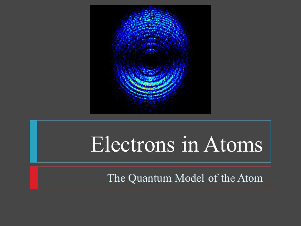 Electrons in Atoms The Quantum Model of the Atom