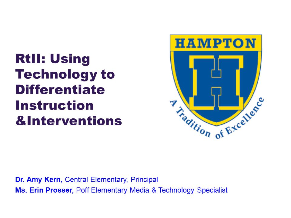 Rtii Using Technology To Differentiate Instruction Interventions