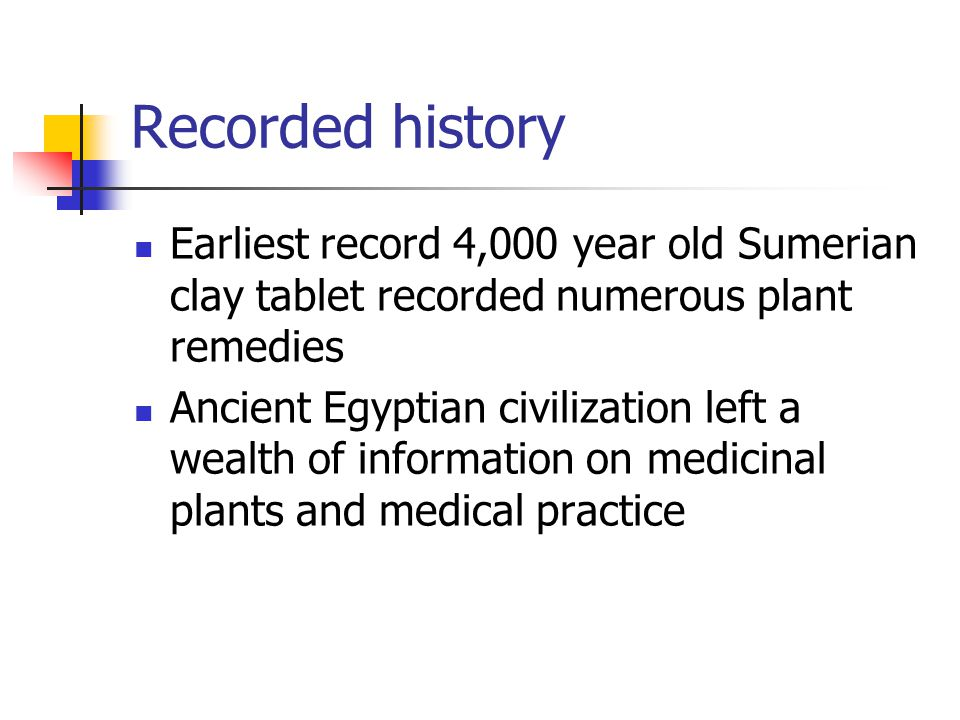 Medical Botany Introduction: History of Plant Use in