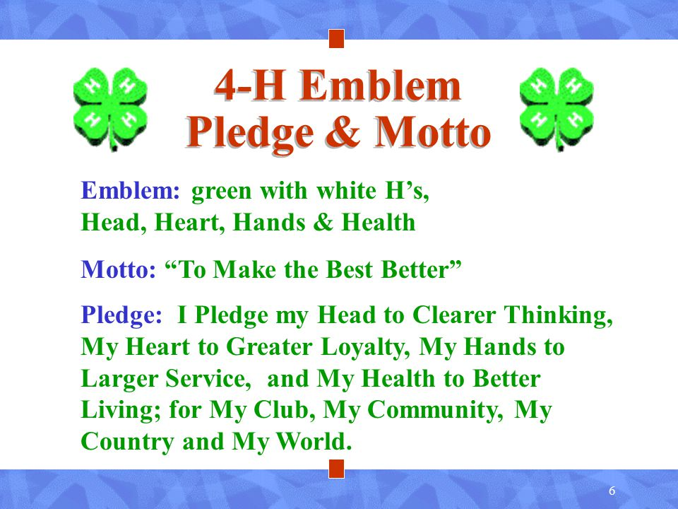 Image result for 4-H Motto