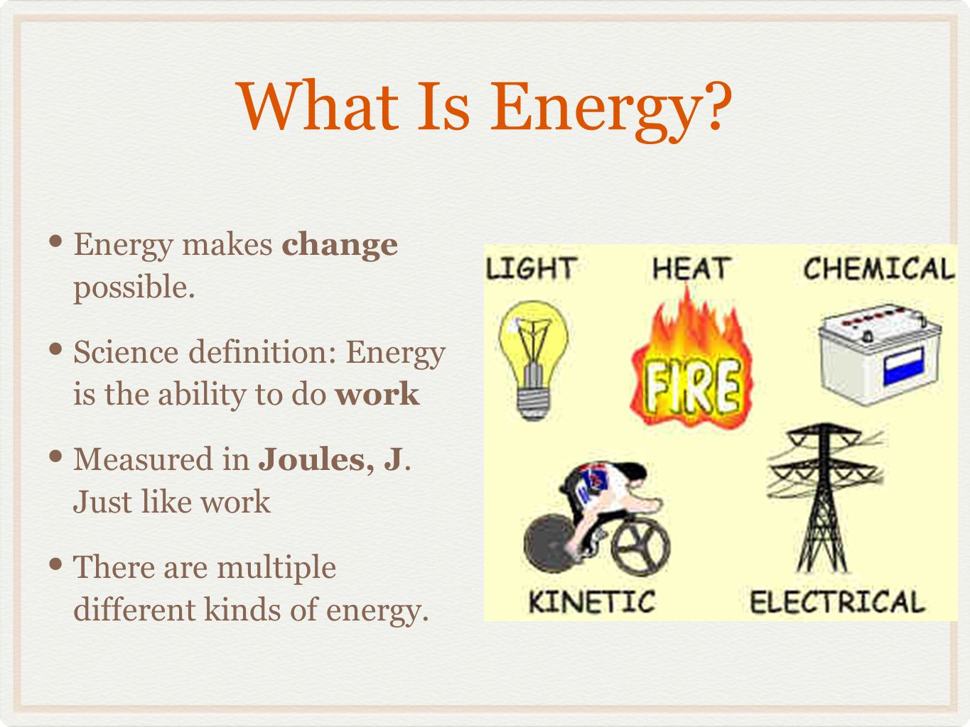 What is energy 84