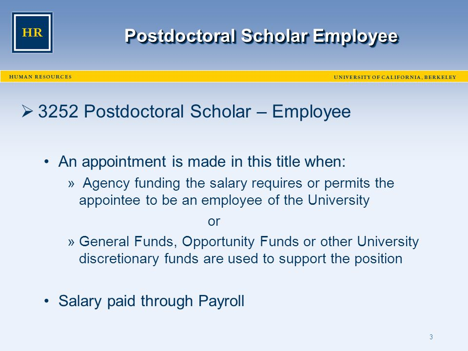 Shirley Silveira Postdoctoral Scholar Benefits Plan (PSBP