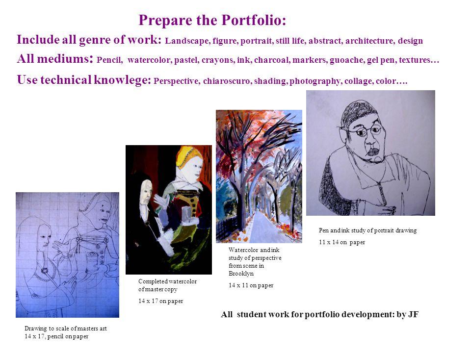 Portfolio Development and Preparation for the NYC High