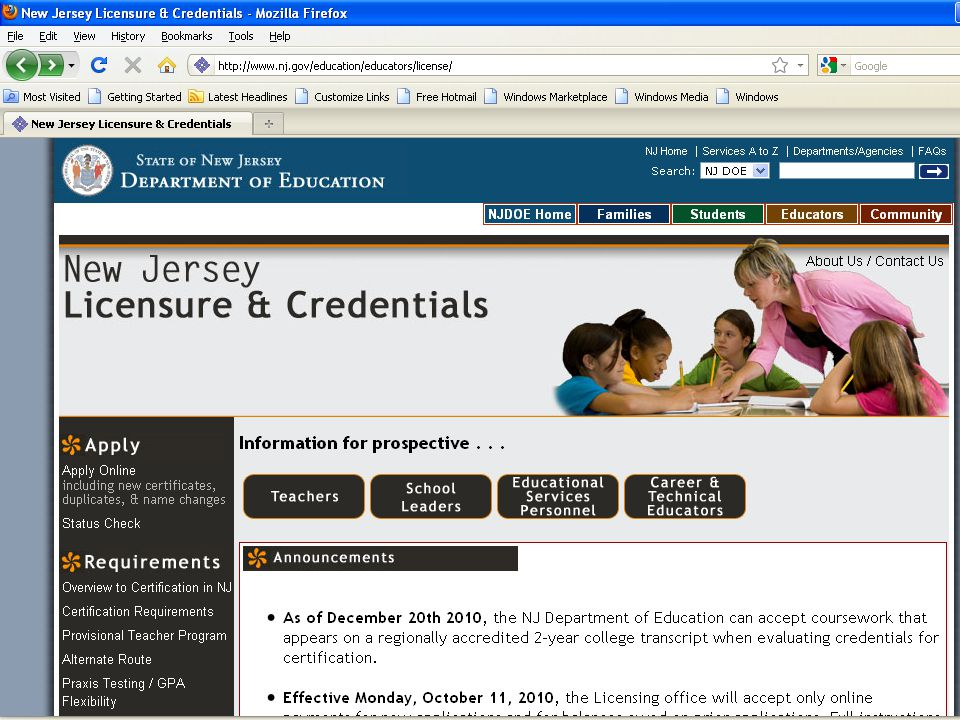Bergen Community College New Pathways to Teaching in New Jersey ...