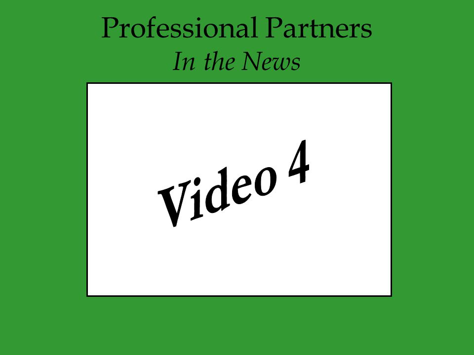 Professional Partners In the News