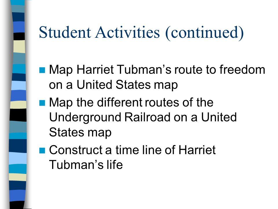 HARRIET TUBMAN Conductor of the Underground Railroad By Donna Martin ...