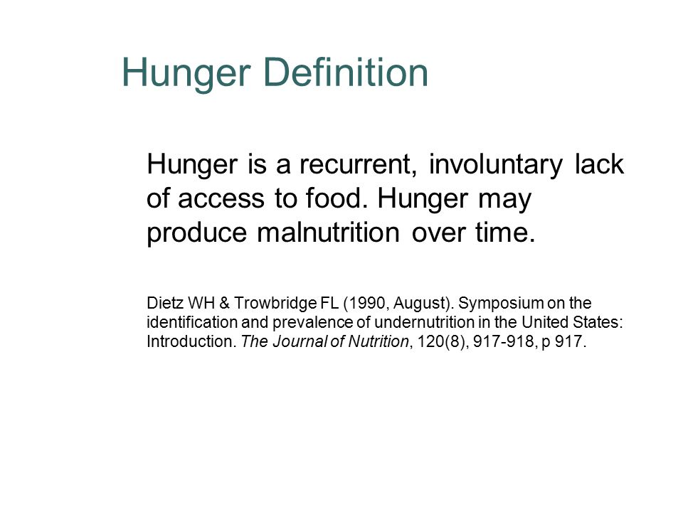 the definition of hunger