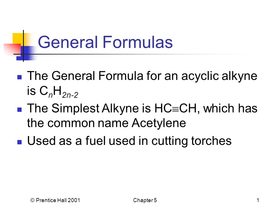 1 prentice hall 2001chapter 51 general formulas