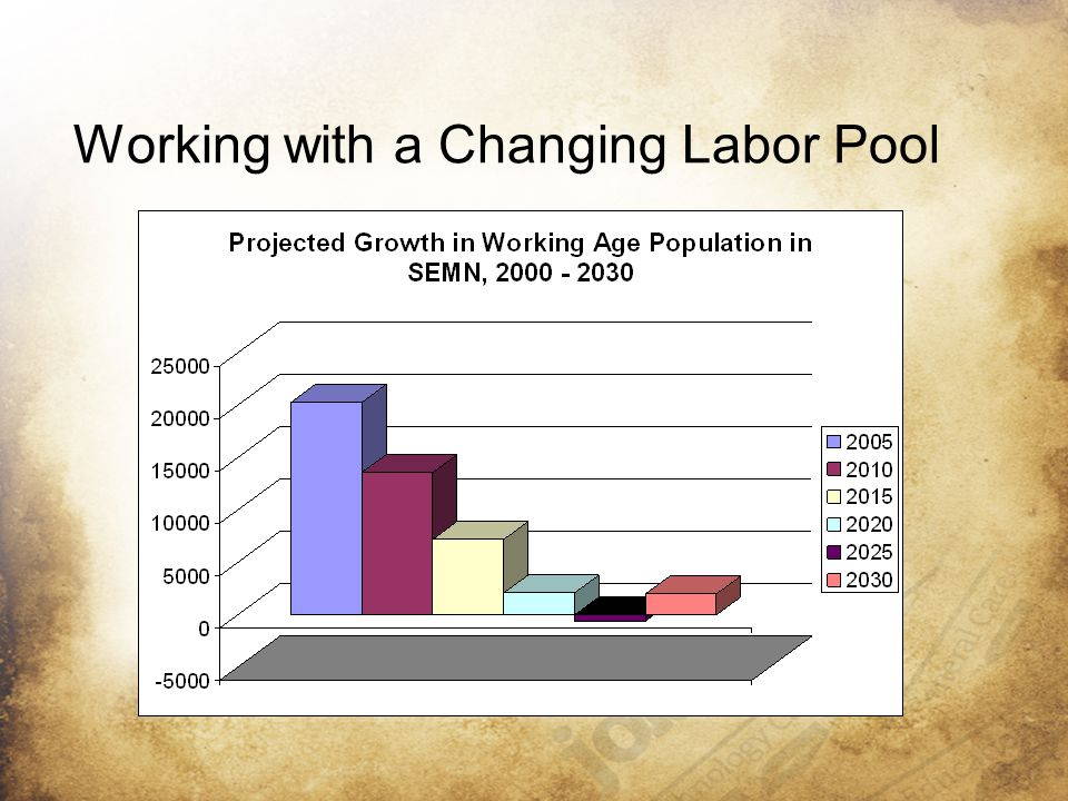 Working with a Changing Labor Pool