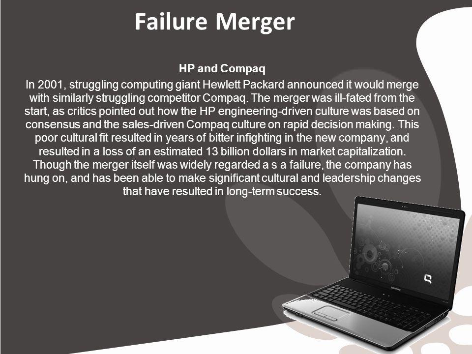 hewlett packard compaq the merger decision