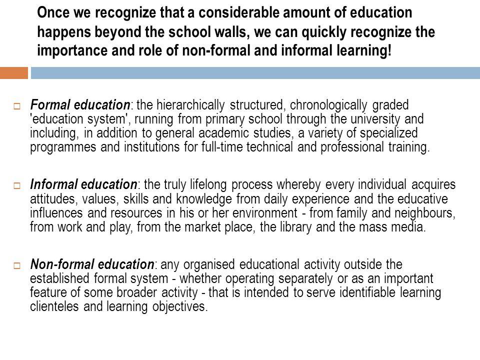 importance of informal education