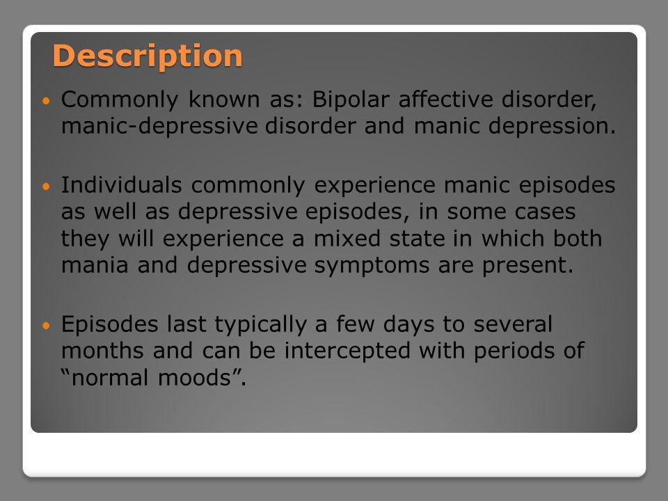 Bipolar Disorder Bailey Roy  Definition Bipolar disorder