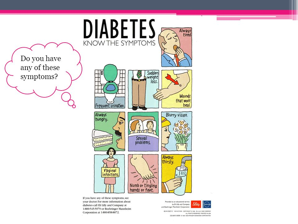 Risk Factors Of Diabetes: Gestational Diabetes Obesity/being overweight Previous glucose intolerance Family history Age