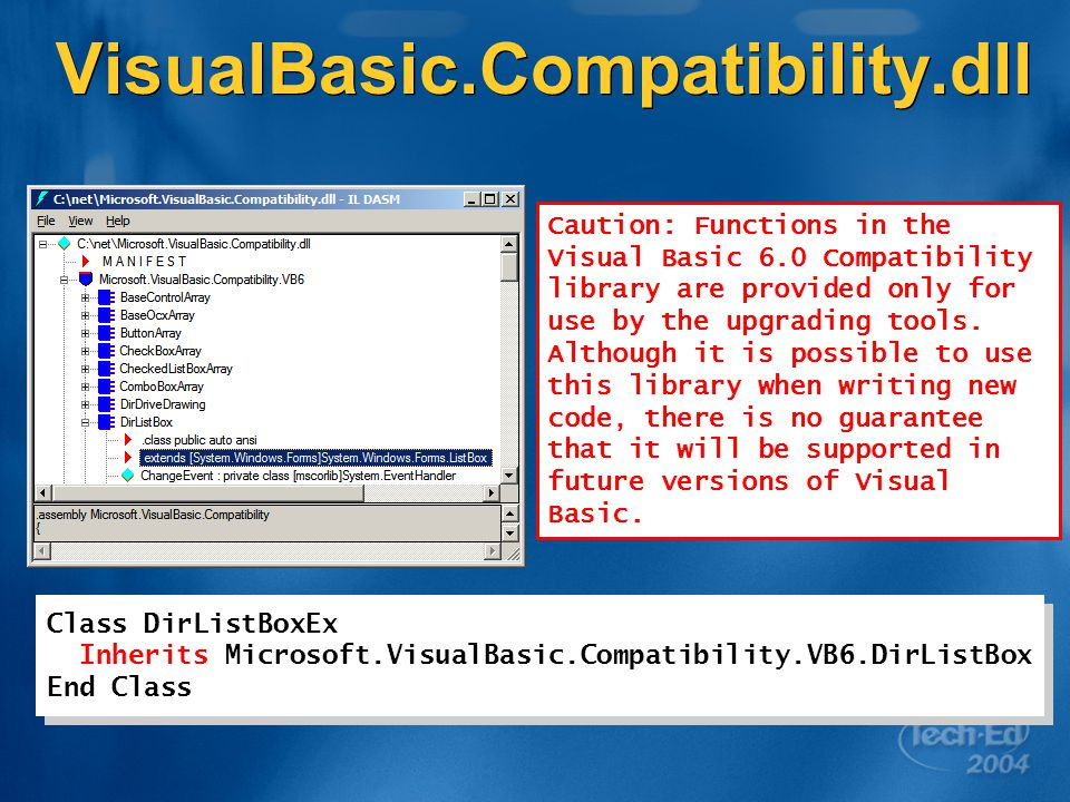 DEV341 Visual Basic: Migrating and Upgrading Lessons Learned